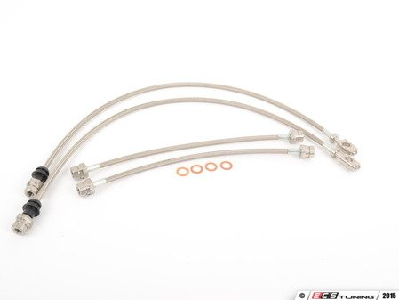 ES#2826816 - 10611215K - Stainless Steel Braided Brake Line Hoses - Teflon braided stainless brake line hoses for quicker brake response! - Autotech - Volkswagen