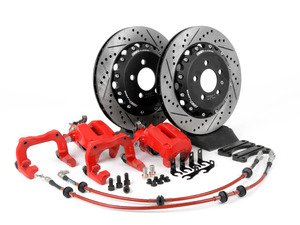 ES#4519 - MK4S1V2R2VXS -  Rear Big Brake Kit - Stage 1 - 2-Piece Ventilated Cross-Drilled & Slotted Rotors (306x22)  - Add leverage to your rear brakes with two-piece rotors and 337/20th Anniversary calipers. - ECS - Volkswagen