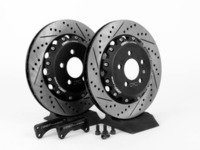 ES#2404 - MK4TTS1RVKXS -  Rear Big Brake Kit - Stage 1 - 2-Piece Cross-Drilled  Slotted Rotors (306x22) - Increase your braking power without breaking your wallet - ECS - Audi Volkswagen