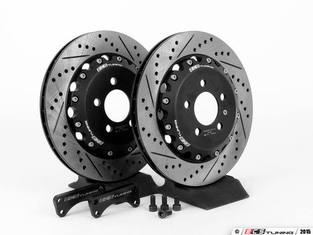 ES#2404 - MK4TTS1RVKXS -  Rear Big Brake Kit - Stage 1 - 2-Piece Cross-Drilled & Slotted Rotors (306x22) - Increase your braking power without breaking your wallet - ECS - Audi Volkswagen