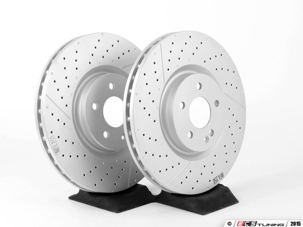 Genuine mercedes benz 1764210212kt2 front brake rotors for Mercedes benz rotors