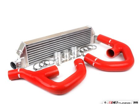 "ES#2827148 - FMINTMK6RD - Front Mount Intercooler Kit - Red Hoses - Forge innovative ""TWINtercooler"" design - Forge - Volkswagen"