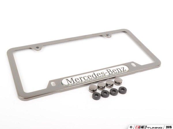 Genuine mercedes benz q6880090 license plate frame for Mercedes benz license plate holder
