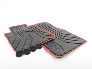 ES#2733497 - 51472219794 - Front Rubber Floor Mats - Black - Protects your floor and carpet from moisture - Genuine BMW - BMW