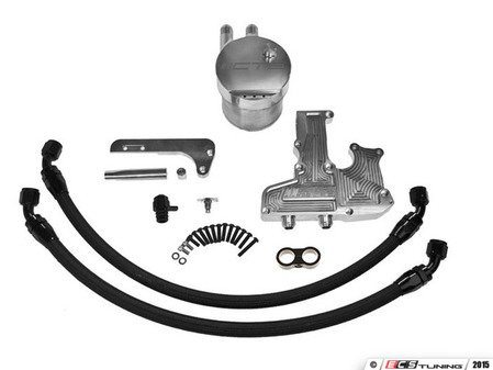 ES#2848040 - CTS-CC-MK6TSI - TSI Billet Catch Can Kit with Noise pipe delete kit - Reduce oil deposits that lower performance - CTS - Audi
