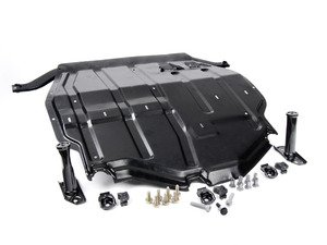 ES#9763 - 1j0698930 -  Steel Skid Plate Kit - Eliminate your inferior plastic belly pan - Assembled By ECS - Volkswagen