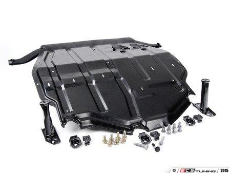 ES#9763 - 1j0698930 -  Steel Skid Plate Kit - Eliminate your inferior plastic belly pan - Assembled By ECS - Volkswagen