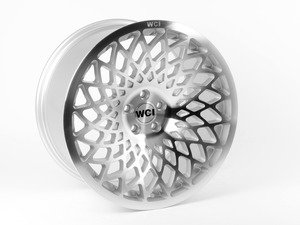 """ES#2843699 - MT95.2R18 - 18"""" MT10 - Priced Each - Right - 18""""X9.5"""" ET40, CB74.1mm 5x112 - Silver With Machined Face - WatercooledIND -"""