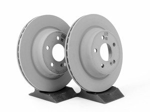 ES#2746480 - 0004230912KT - Vented Rear Brake Rotors - Pair - Does not include new rotor securing screws - Genuine Mercedes Benz - Mercedes Benz