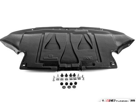 ES#2581748 - 1324346QKT1 - Front Belly Pan Kit - Includes a new belly pan with installation hardware - Assembled By ECS - Audi
