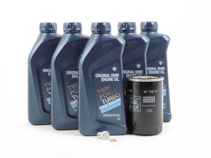 ES#258436 - M20IN1 - Genuine BMW Inspection I/Oil Change Kit - Everything you'll need to do a complete oil change with genuine BMW synthetic oil - Assembled By ECS - BMW
