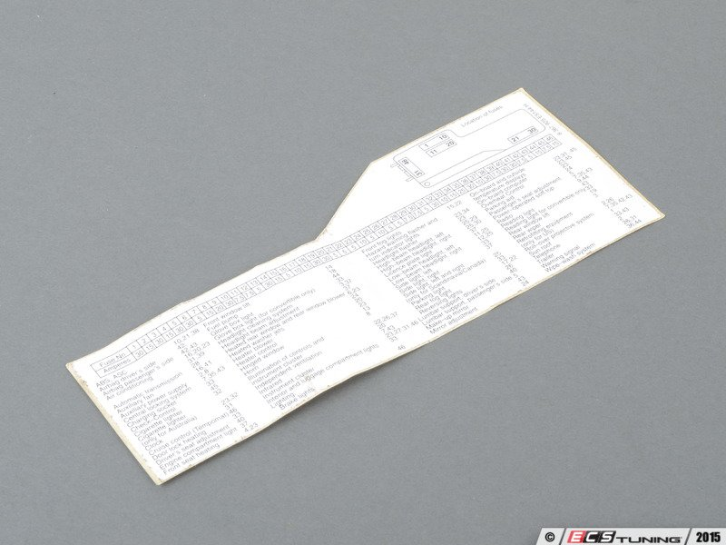 664578_x800 genuine bmw 61138367925 fuse box label (61 13 8 367 925) fuse box label at metegol.co