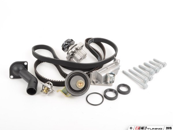 ES#261236 - 06B198450 V2 - Timing Belt Kit - Ultimate - Complete kit to service your timing belt, water pump, and thermostat. Includes a $70 refundable core charge for the remanufactured water pump - Genuine Volkswagen Audi - Audi Volkswagen