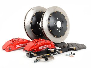 ES#3048561 - 83.135.6700.71 - StopTech front 6 piston big brake kit (355x32mm)  - Comes with 6 piston red calipers, 2 piece uncoated slotted rotors and stainless steel brake lines. - Includes brackets and mounting bolts - StopTech - BMW