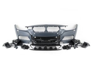 ES#2842192 - 012196ecs02a - M Sport Style Front Bumper - Add the more aggressive front bumper from the M Sport package - ECS - BMW