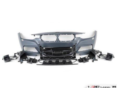 ES#2842191 - 012196ecs01a - M Sport Style Front bumper - Add the more aggressive front bumper from the M Sport package - ECS - BMW