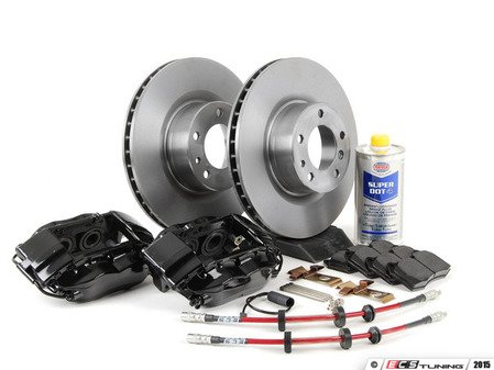 ES#2702712 - 34111161177KT - OE 4 Piston Front Big Brake Kit (324x30) - Upgrade your brakes with this bolt on and go solution, featuring Brembo 4 piston calipers. Includes everything down to the fluid. - Assembled By ECS - BMW