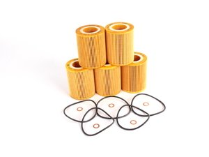 ES#259288 - 11427512300 - Oil Filter Kits, Pack Of 5 - Stock Up And SAVE! - OE quailty for your BMW M54, buy in sets of 5 or 10 - Genuine BMW - BMW