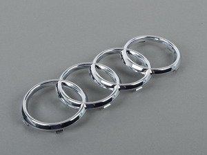 ES#2064104 - 8J0853605 - Audi Rings Grille Emblem - Chrome - Replace your missing or damaged rings - Genuine Volkswagen Audi - Audi