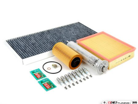 """ES#2723156 - E53V8IN2d2KT - """"Dry"""" Inspection II Service Kit - Includes spark plugs and all filters - add your preferred fluids for a complete service - Assembled By ECS - BMW"""