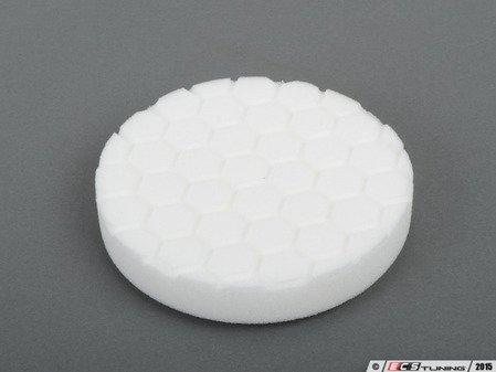 """ES#2619163 - BUFX104HEX5 - 5.5"""" White Hex Logic Polishing Pad - 1500 To 2000 Grit - Works well with pre wax cleaners, course polishes or finishing polishes - Chemical Guys - Audi BMW Volkswagen Mercedes Benz MINI Porsche"""