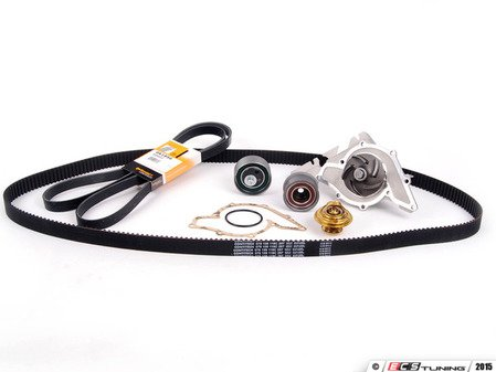 ES#2576 - 078198479 V2TT - Timing Belt Kit - Ultimate - Complete kit to service your timing belt, water pump, and thermostat - Assembled By ECS - Audi