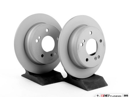 ES#2738434 - 2024230012KT2 - Rear Brake Rotors - Pair - Includes left and right front brake rotors - Zimmermann - Mercedes Benz