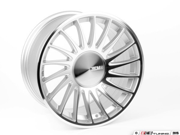 "ES#2840813 - 3SDM00551KT1 - 19"" Style 0.04 Wheels - Staggered Set Of Four - 19""x8.5"" ET35 / 19""x10.0"" ET35 CB66.6 5x112 Silver/Cut - 3SDM - Audi"