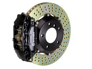 ES#2853936 - 2P1.9010A1 - rear Brembo GT 4 piston Big Brake Kit (380x28mm) - Upgrade to 2 piece rotors (drilled), 4 piston calipers (black), & high performance Brembo pads - Brembo - BMW
