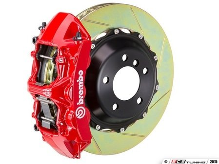 ES#2852494 - 1N2.9513A2 - front Brembo GT 6 piston Big Brake Kit (405x34mm) - Upgrade to 2 piece rotors (slotted), 6 piston calipers (red), & high performance Brembo pads - Brembo - BMW
