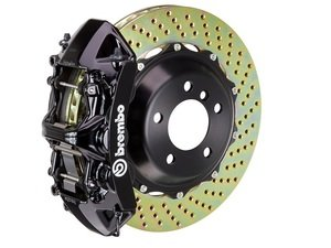 ES#2852083 - 1N1.9506A1 - Front Brembo GT 6 Piston Big Brake Kit (405x34mm) - Upgrade to 2 piece rotors (drilled), 6 piston calipers (black), & high performance Brembo pads - Brembo - BMW