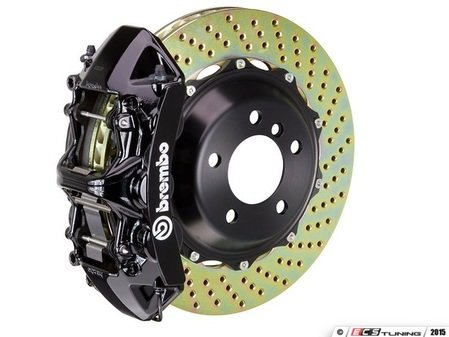 ES#2853030 - 1P1.8517A1 - Front Brembo GT 6 piston Big Brake Kit (365x29mm) - Upgrade to 2 piece rotors (drilled), 6 piston calipers (black), & high performance Brembo pads - Brembo - BMW
