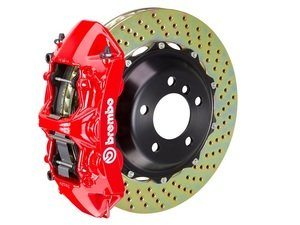 ES#2852084 - 1N1.9506A2 - front Brembo GT 6 piston Big Brake Kit (405x34mm) - Upgrade to 2 piece rotors (drilled), 6 piston calipers (red), & high performance Brembo pads - Brembo - BMW