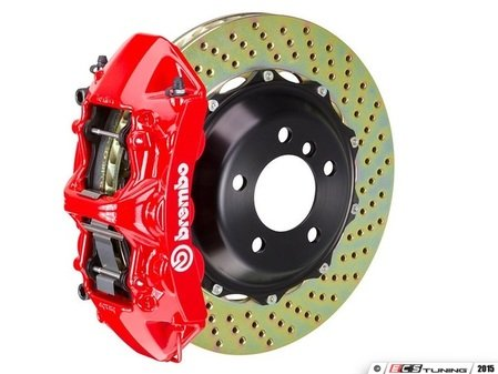 ES#2853031 - 1P1.8517A2 - front Brembo GT 6 piston Big Brake Kit (365x29mm) - Upgrade to 2 piece rotors (drilled), 6 piston calipers (red), & high performance Brembo pads - Brembo - BMW