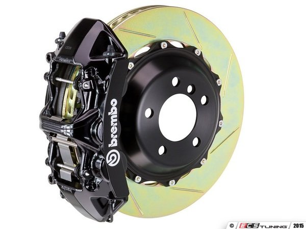 ES#2852563 - 1N2.9528A1 - Front Brembo GT 6 Piston Big Brake Kit (405x34mm) - Upgrade to 2 piece rotors (slotted), 6 piston calipers (black), & high performance Brembo pads - Brembo - BMW