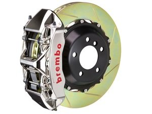 ES#2851244 - 1M2.9021AR - Brembo GT-R Front Big Brake Kit - 2 Piece Slotted Rotors (380x32) - Featuring Machined Billet Monobloc 6 piston calipers, stainless brake lines and Brembo High Performance brake pads - Brembo - Audi