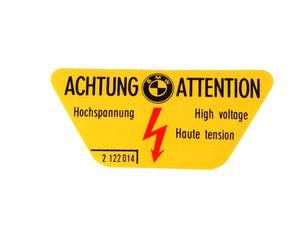 ES#184803 - 71212122014 - High voltage label - Sticker that warns of high voltage areas - Genuine BMW - BMW