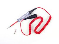 ES#2762281 - 006013SCH01A - Coiled Cord Circuit Tester - Features a clear handle, 12 ft red coiled cord, insulated stainless steel probe and a bright red LED bulb. Supports 6 to 24 volt systems. - Schwaben - Audi BMW Volkswagen Mercedes Benz MINI Porsche