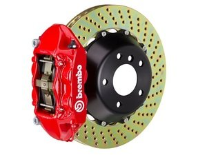 ES#2852967 - 1P1.8501A2 - Brembo GT Front Big Brake Kit - 2 Piece Drilled Rotors (365x29) - Featuring Red 4 piston calipers, stainless brake lines and Brembo Sport brake pads - Brembo - Audi