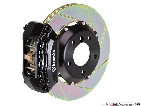 ES#2854206 - 2P2.8022A1 - rear Brembo GT 4 piston Big Brake Kit (345x28mm) - Upgrade to 2 piece rotors (slotted), 4 piston calipers (black), & high performance Brembo pads - Brembo - BMW