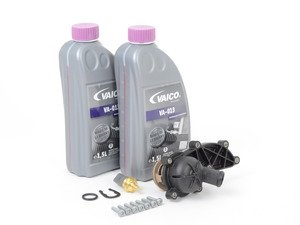 ES#2762584 - 06E121111GKT1 - Cooling System Refresh Kit  - Replace your thermostat and temp sensor with one kit! - Assembled By ECS - Audi