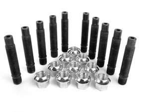 ES#2817096 - 001467ecs01KT8 - 70mm Lug Stud Conversion Kit - Set Of 10 - Make wheel changes faster and easier - Includes studs and nuts for two wheels - ECS - Volkswagen Porsche