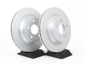 ES#2569686 - 2114230912SET4 - Rear Brake Rotors - Pair - Vented rotors, not for use on vehicles with solid rear brake rotors - Meyle - Mercedes Benz