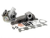 ES#2770133 - 058145703KO4KT - K04 0015 Turbocharger & ATP High Flow Manifold Kit - Great bolt on performance upgrade! Increase horsepower and torque with this complete kit! - Assembled By ECS - Audi Volkswagen