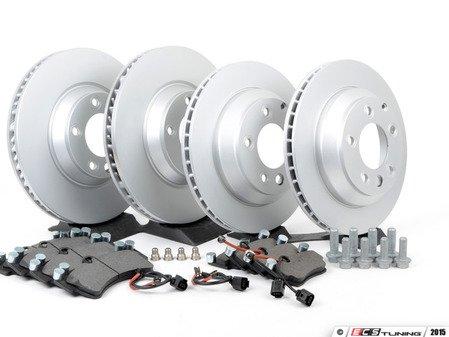 ES#2602307 - 95535140151OEKT - Front & Rear Brake Service Kit - Featuring Meyle rotors and Bosch QuietCast brake pads - Assembled By ECS - Porsche