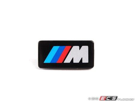 "ES#53584 - 32332226479 - M Tech I Steering Wheel Badge - Priced Each - Push on style ""M"" emblem - Genuine BMW - BMW"