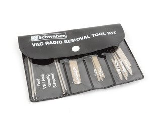 ES#1928335 - AAR-10P - VW/Audi Radio Tool Kit - 10 Pieces - Five pairs of the most common Volkswagen radio removal tools - Schwaben - Audi Volkswagen