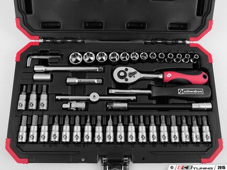 "ES#2823235 - 010747SCH01A - Schwaben 46 Piece 1/4"" Drive Set - Get the job done quickly and correctly with this specialty tool set from Schwaben. - Schwaben - Audi BMW Volkswagen Mercedes Benz MINI Porsche"