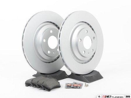 ES#2631411 - 4F0615601FKT4 - Rear Brake Service Kit - Featuring Meyle rotors and Textar brake pads - Assembled By ECS - Audi