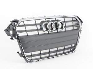 ES#2541012 - 8K0853651G1QP - Grille Assembly - Stone Grey With Chrome Trim - Clean up or change your look - Genuine Volkswagen Audi - Audi